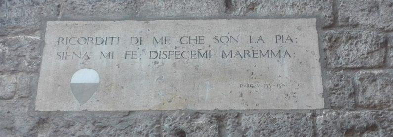 Targhe Divina Commedia Siena